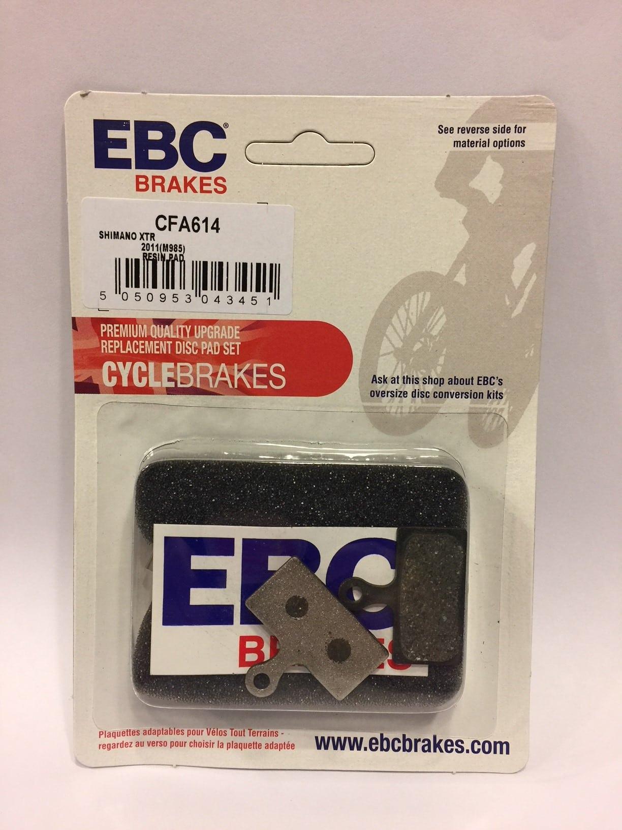 EBC Shimano XTR M985 /& XT M785 2011-2012 MTB Disc Brake Pads CFA614